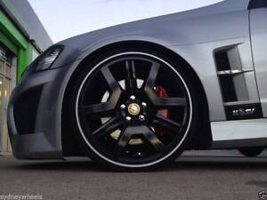 "4x HOLDEN BLACK HSV 20"" E3 R8 GTS STYLE STAGGERED MAGS & TYRES VF Blakehurst Kogarah Area Preview"