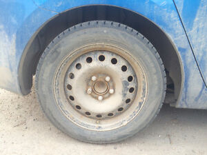 4 winter tires with rims: 205/55R16 Nok Hakk R2 94R XL tires