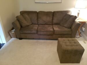 Couch and Ottoman – will deliver!