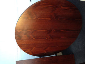 Pine IKEA  dining table and 6 chairs