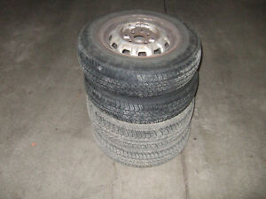 4 TIRES WITH RIMS FOR COROLLA 1988-1992  SIZE 155/80/13