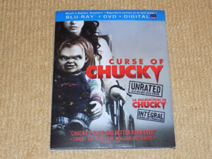 CURSE OF CHUCKY, UNRATED, BLU-RAY & DVD, EXCELLENT CONDITION