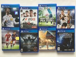 Diablo 3, F1, Battlefront, FIFA, UFC, Ass Creed Origins..