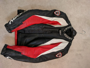 Suomy Race-K leather motorcycle jacket (fits between S & M)