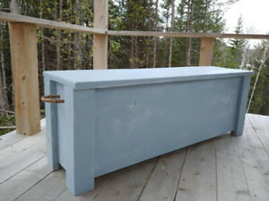 Hand crafted trunk storage bench