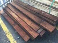 5ft feather edge timber 80p each