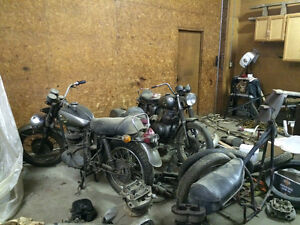 4 complete BSA motorcycles