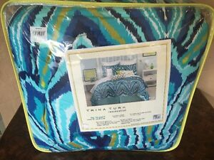 Trina Turk - Blue Peacock King Comforter