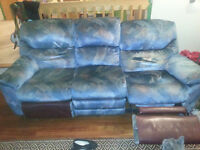 Recliner sofa and Rocking chair