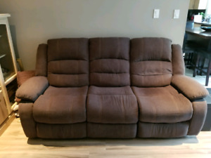 Power recliner sofa and love seat.