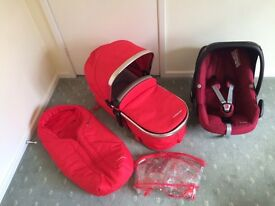 Mothercare Orb Pram, Travel System.