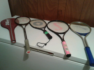 Assorted raquets for sale 15.00ea