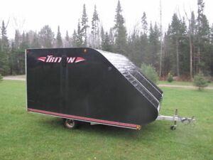 2009 Triton 2 up Hybrid Snow Machine Trailer