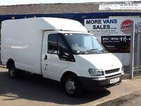 2006 1 owner ex BT ford transit t350 2.4 tddi 85k fsh chassis cab Luton style box van