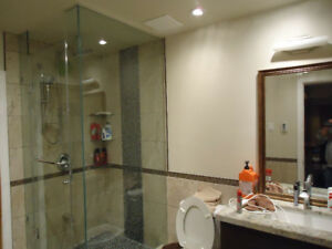 Shower door installation custom glass shower