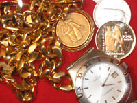 MONTRES ROLEX, OMEGA, CARTIER, J.LECOULTRE WATCHS AND COINS