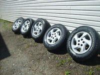4 Tires on Aluminum Wheels to fit Toyota Rav4