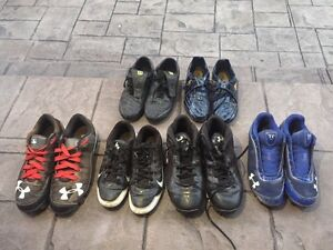 Baseball and soccer shoes