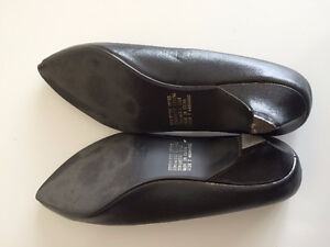 Synthetic Black Shoes Size 7 St. John's Newfoundland image 2