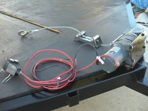 LIKE NEW CHAMPION 4500 LB ELECTRIC WINCH