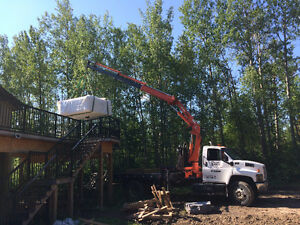 PICKER TRUCK FOR HIRE !!! SHINGLES, ROOF TRUST, BOULDERS ECT. Strathcona County Edmonton Area image 2