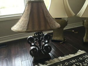 Wooden lamp about 28 in. High