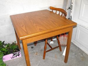 Apartment Size solid wood table and chair