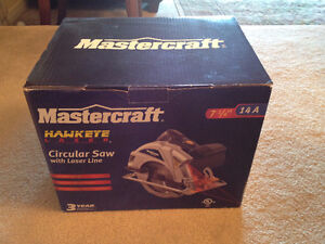 Mastercraft 14A Circular Saw with Laser line, 7-1/4-in