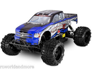 Rampage XT 1/5 Scale Gas Powered Remote Control Truck Blue RTR 4x4 Redcat Racing