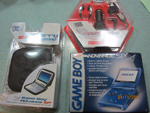 Cobalt Blue Classic Gameboy Advance SP & Carry Case & Accesories