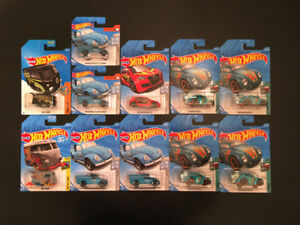 Hot Wheels - Volkswagen Beetle, Kool Kombi, Golf GTI, Pickup