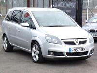 Vauxhall Zafira 2007 SRi, 75 000 Miles 1 Years Mot Silver, 6 Months AA Warranty