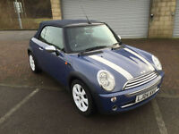 2004 BMW Mini 1.6 Cooper Convertible Metallic Blue