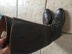 Women's leather riding boots made in England