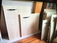 Kitchen cupboard doors in beech