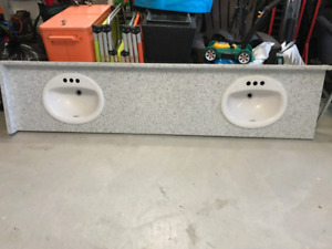 DOUBLE SINK VANITY COUNTERTOP
