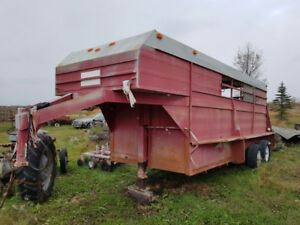 stock trailer for sale goose neck