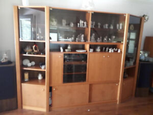 wall unit ,solid and big 19 inch deep solid teak