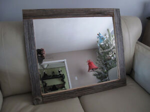 BARN BOARD MIRROR AND PICTURE FRAMES