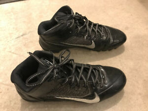 Nike cleats, size 10