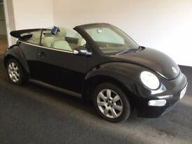 2004 04 Reg Volkswagen Beetle 1.9 TDI, Convertible, Diesel, Manual, 2 Dr, Met Black, MOT August 2018