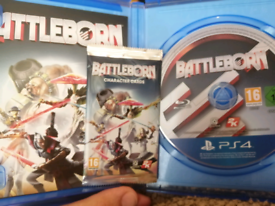 Ps4 Battleborn with Collector Cards