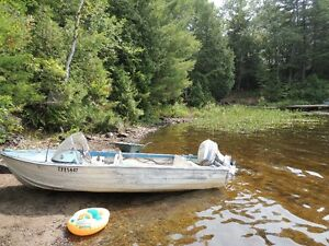 50 EVINRUDE Motor and Boat with Trailer