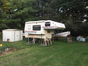 Slide in camper