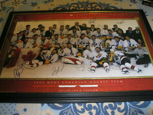 Autographed Signed 2002 Canadian Olympic Gold champs by 18 membe