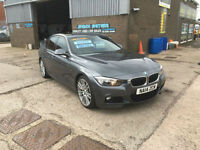 2014 BMW 330 3.0TD M-SPORT 258 bhp s/s AUTO,PADDLE SHIFT,ONLY 64000 MILES FSH