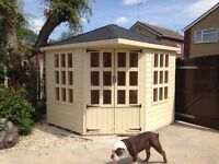 8ft x 8ft corner summerhouse/ shed/ garden building