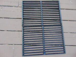 Two used Weber cast iron gas grill cooking grates in good shape