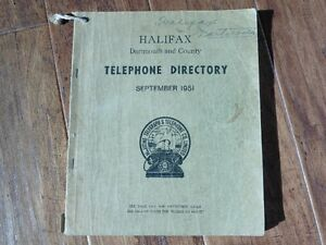 1951 Halifax Dartmouth Telephone Directory
