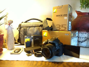 Nikon D5300 24.2 MP CMOS SLR Camera with NIKKOR 35mm f/1.8G Lens